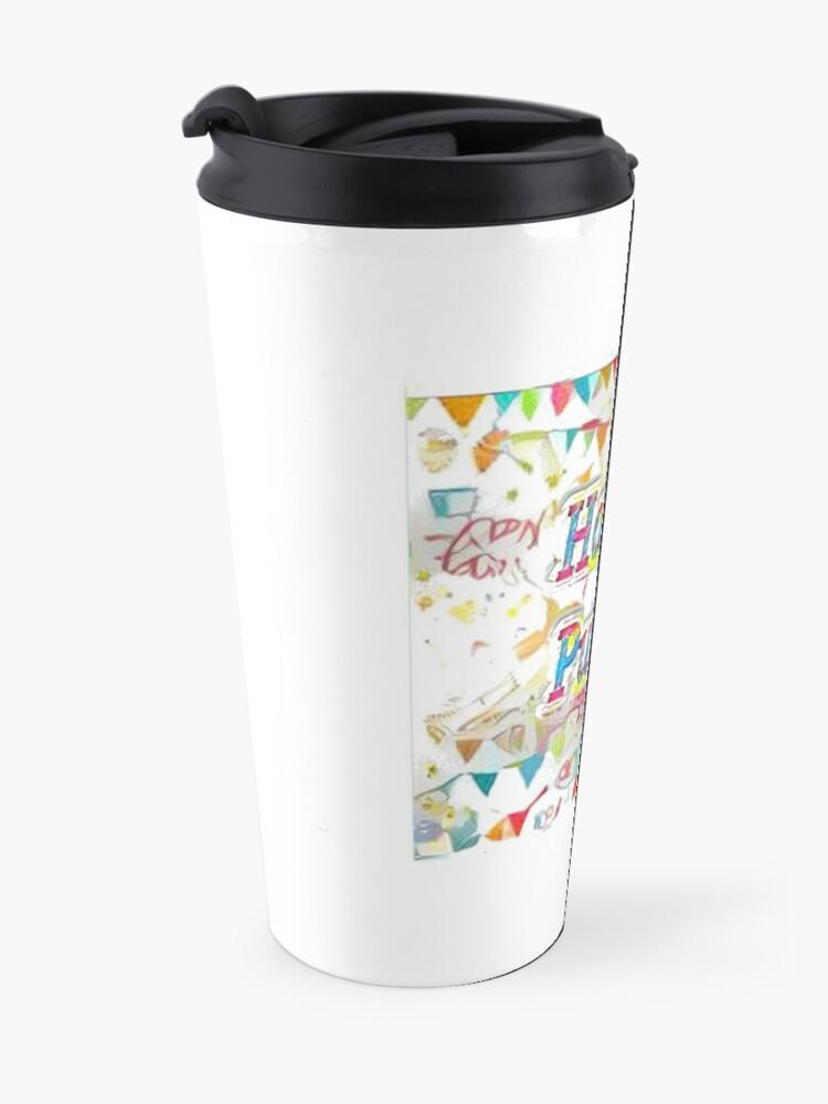 Alternate view of Happy Purim! confetti Travel Mug