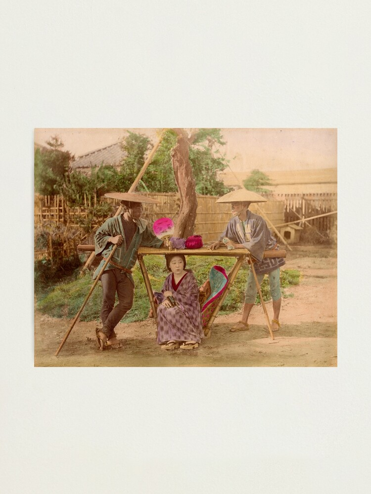 Alternate view of Japanese Kago, travelling chair Photographic Print