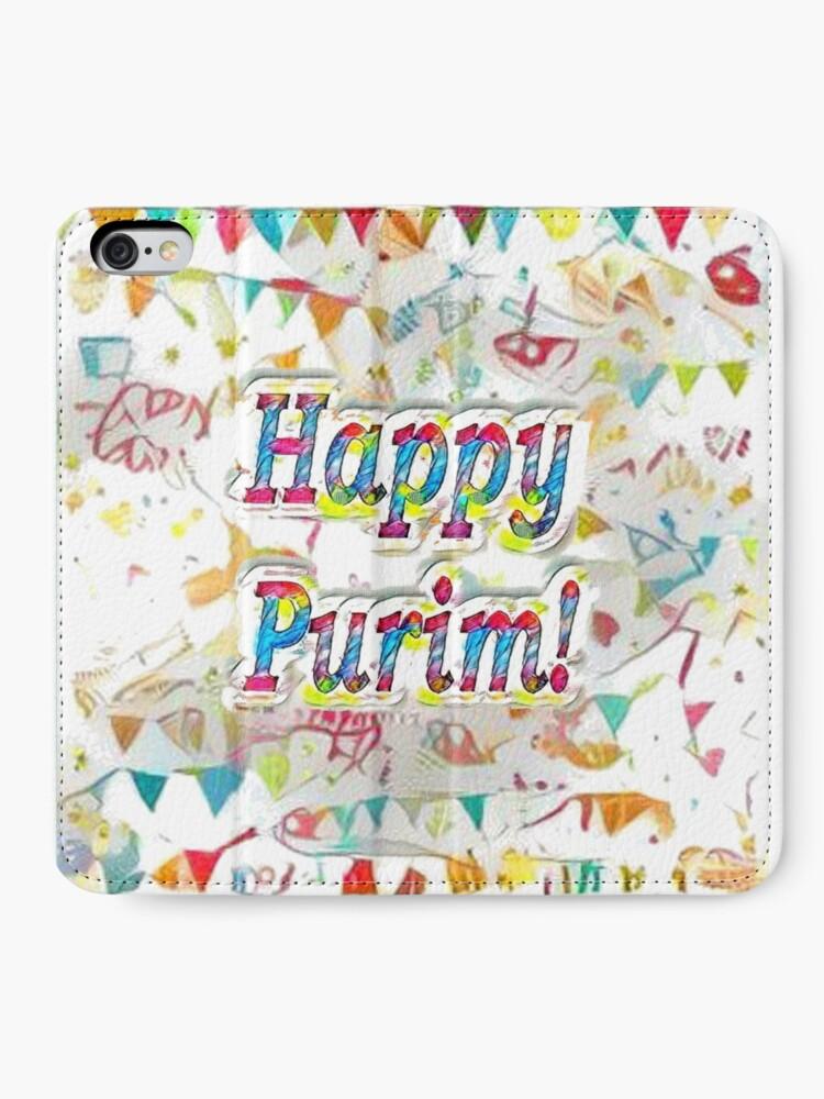 Alternate view of Happy Purim! iPhone Wallet