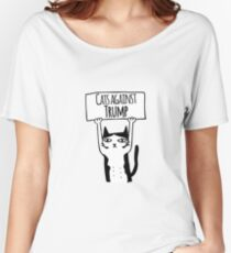 Cats Against Trump Women's Relaxed Fit T-Shirt