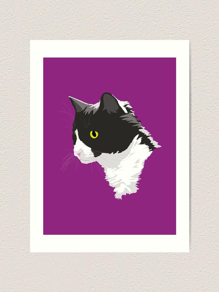 Alternate view of Tuxedo Cat Art Print