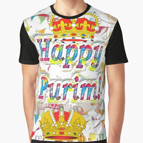Jewish,  Happy Purim, happy, Purim, blessed, blest, blissful, blithe Graphic T-Shirt