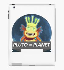 RICK AND MORTY -  PLUTO IS A PLANET iPad Case/Skin