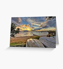 Cameron's Bight boats at sunrise Greeting Card