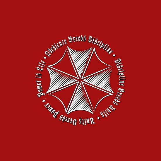 Resident Evil Umbrella Logo And Motto Posters By Knaaren22 Redbubble