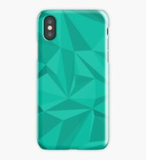 Shades of Mint Triangle Pattern iPhone Case/Skin