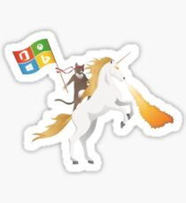 Ninja Cat Unicorn Sticker