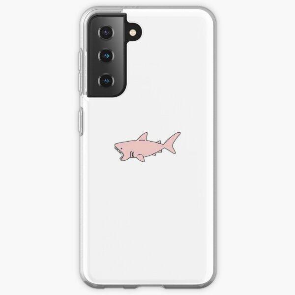 Cute Pink Shark Samsung Galaxy Soft Case