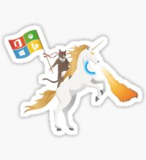 Ninja Cat Unicorn Full Flag Cortana Sticker