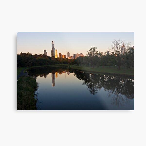 Melbourne skyline at dawn Metal Print
