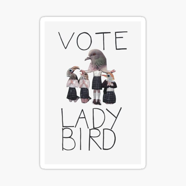 Vote Lady Bird Sticker