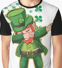 Camiseta gráfica Irish American Flag with Dabbing Leprechaun USA Ireland T-Shirt