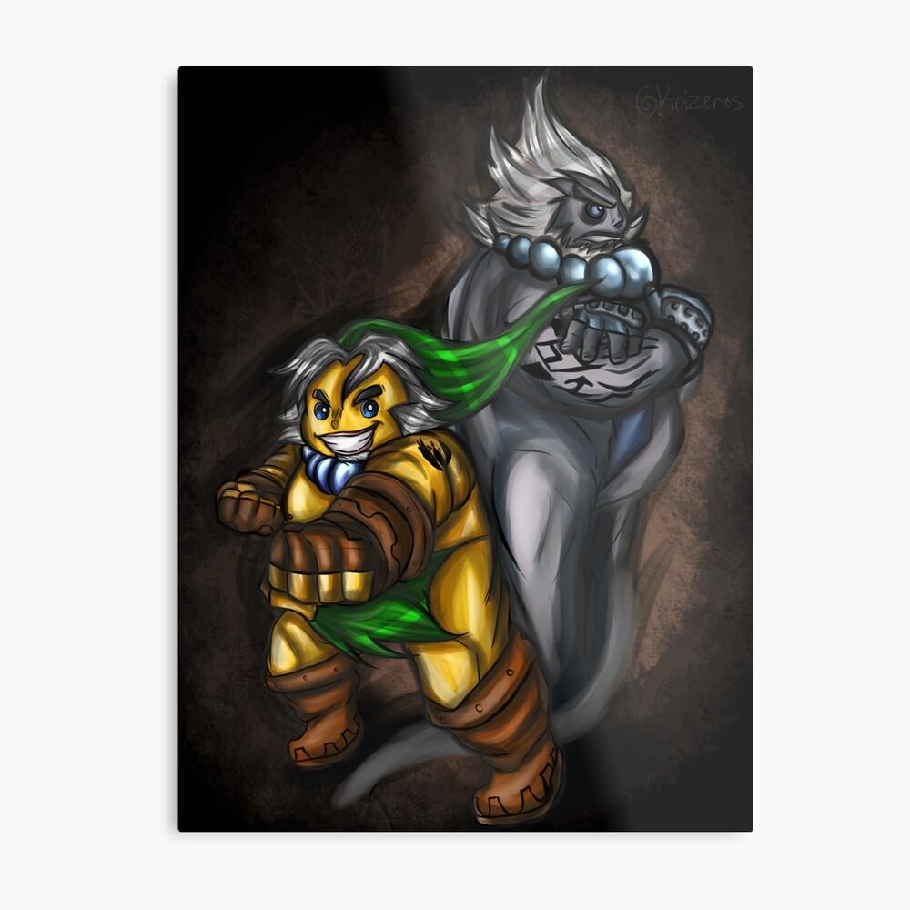 Goron Link und Darmani Metallbild
