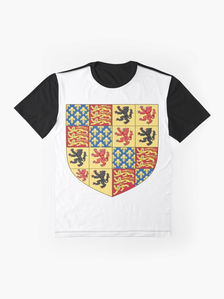 Alternate view of Hainault coat of arms, Coat of arms, arms, crest, blazon, cognizance, childrensfun, purim, costume Graphic T-Shirt