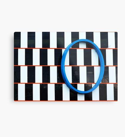 Blue ellipse Metal Print
