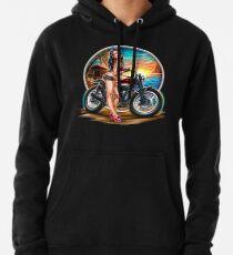 Biker sexy Pinup Pullover Hoodie