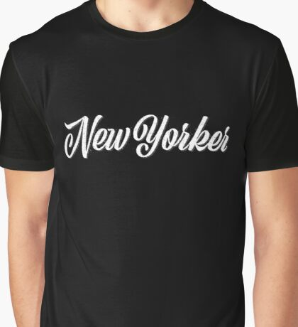 New Yorker Vintage Letter Graphic T-Shirt