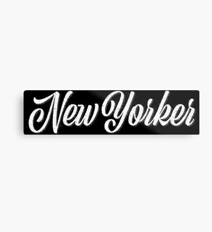 New Yorker Vintage Letter Metal Print