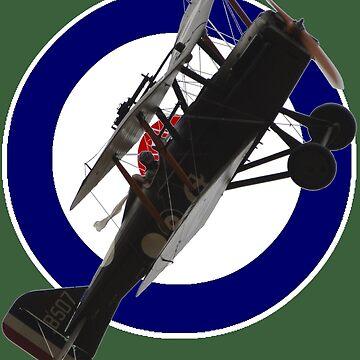 WW1 RAF Roundel SE5A B507 Design by muz2142