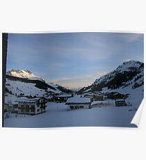 Austrian Alps at Dusk Poster