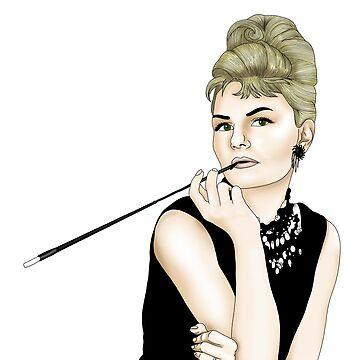 Jennifer Morrison as Audrey Hepburn (colour) by CapnMarshmallow