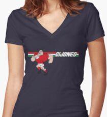 G I JONES Women's Fitted V-Neck T-Shirt