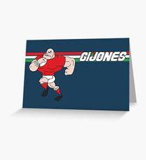 G I JONES Greeting Card