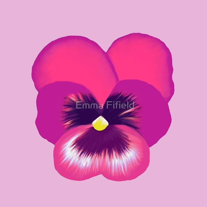 Single hot pink pansy flower floor pillows by emma fifield redbubble single hot pink pansy flower mightylinksfo Choice Image