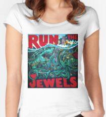 tour the run jewels minggu Women's Fitted Scoop T-Shirt