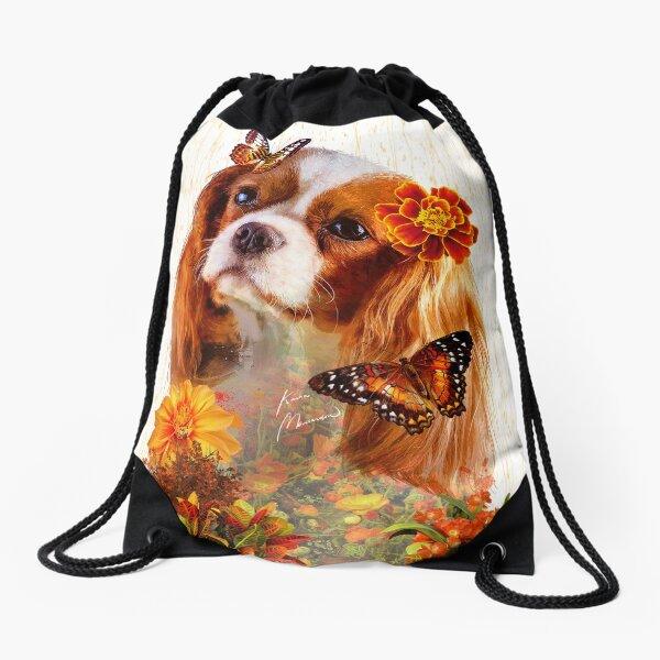 Cavalier King Nature Art Print Drawstring Bag