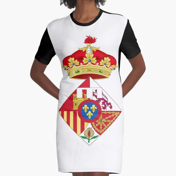 Infanta Sofía of Spain, Coat of arms, arms, crest, blazon, cognizance, childrensfun, purim, costume Graphic T-Shirt Dress