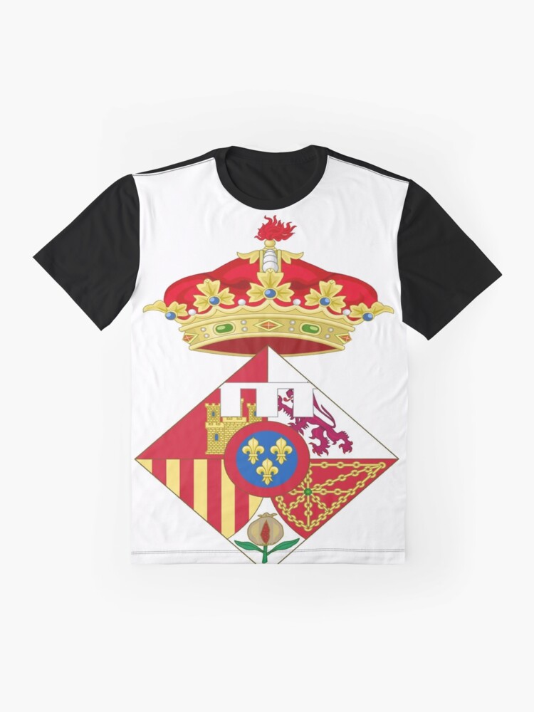 Alternate view of Infanta Sofía of Spain, Coat of arms, arms, crest, blazon, cognizance, childrensfun, purim, costume Graphic T-Shirt