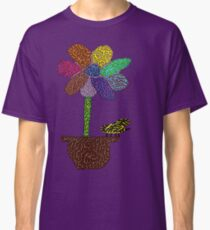 Funky Flower and Bee Classic T-Shirt
