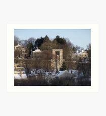 Roger Williams looks over the city of Providence Art Print