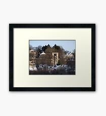 Roger Williams looks over the city of Providence Framed Print