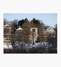 Roger Williams looks over the city of Providence Photographic Print