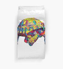 Giant Turtle T-Shirt Colorful Art Duvet Cover