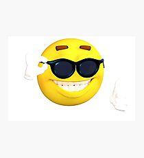 Mister Cool Emoji Photographic Print