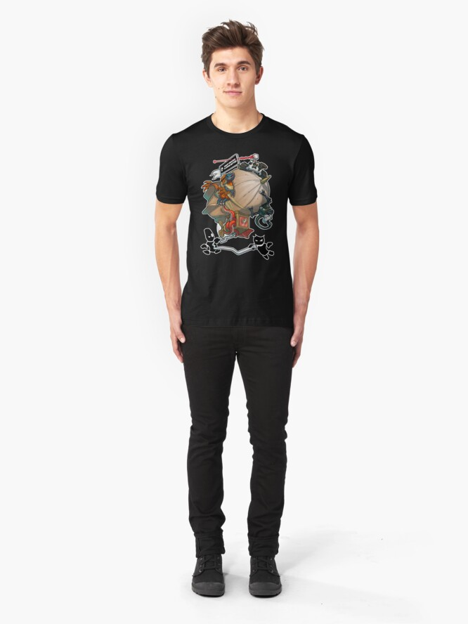 Alternate view of Smart Enough To Know Better Comedy Blimp Slim Fit T-Shirt
