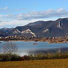 Lake Iseo in winter by annalisa bianchetti