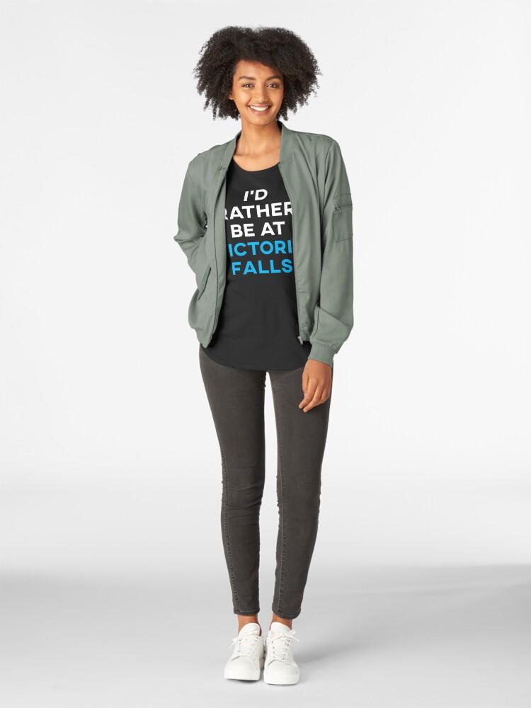 Alternative Ansicht von Ich würde lieber in Victoria Falls sein Premium Rundhals-Shirt