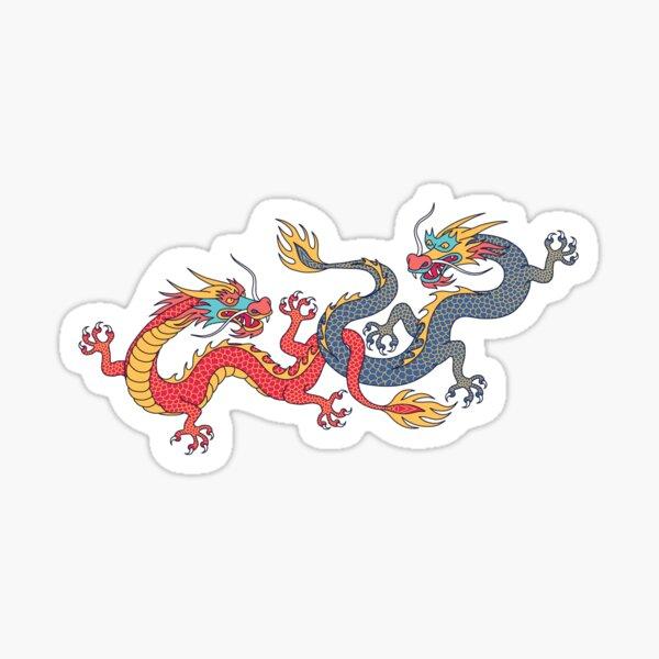 Chinese dragons Sticker