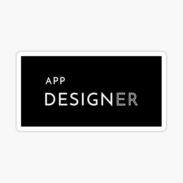 App Designer Sticker