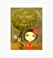 Can You Keep A Secret? Art Print