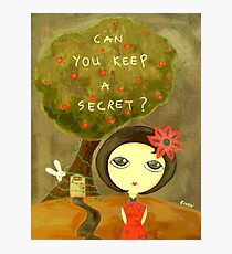 Can You Keep A Secret? Photographic Print