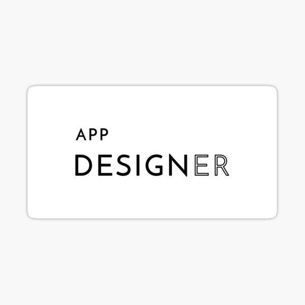 App Designer (Inverted) Sticker
