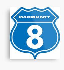 Mario Kart 8 Route logo Metal Print