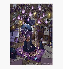 Modern Male Witch: Attic Photographic Print