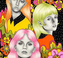 Psychedelic Babes by Emily Brinkley