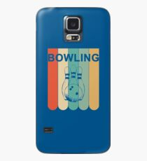 Retro Bowling Vintage Design Art for Bowlers T-Shirt Case/Skin for Samsung Galaxy